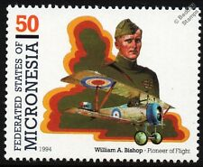 Billy Bishop (WWI Canadian Fighter Ace) & NIEUPORT 17 Biplane Aircraft Stamp