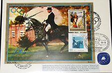 BOLIVIA BOLIVIEN 1987 Block 171 Olympics 1988 Seoul Equestrian Neckermann 741 pc
