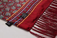 Authentic Tootal Vintage Silk Scarf Medium Red Paisley **Brand New**