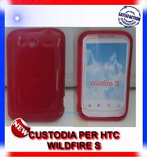 Custodia+Pellicola CERCHI ROSSA per HTC WILDFIRE S G13