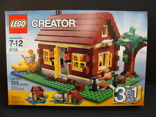 NEW LEGO Creator Log CABIN 5766 Country Retreat 3-in-1 Hut House Home River NIB