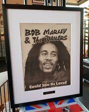 Bob Marley Luxury Framed Original NME-Certificate VERY RARE 1980