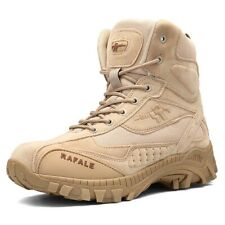 Men's Military Tactical Work Boots Side Zip SWAT Army Ankle Combat Desert Shoes