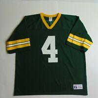 VTG 90s Logo 7 Mens XL Green Bay Packers Jersey Brett Favre Football NFL