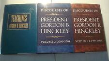 LDS Mormon Lot 6 H/C Books President GORDON B. HINCKLEY Discourses & Teachings