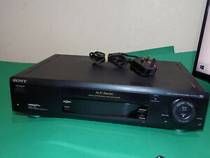 SONY SLV-E720 Video Cassette Recorder VHS Smart Engine VCR Black Quality TESTED
