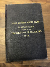 More details for rare ww1 lnwr instructions book relating to transmission of telegrams 1916