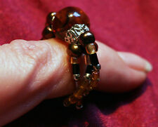 Golden Copper & Brass Steampunk Tones ~ Brown Recluse ~ Spider Fashion Ring