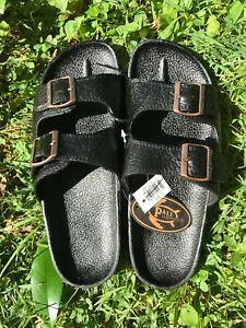 Pali Hawaii Sandals PH438 -MEN'S  BUCKLE 1 PAIR SIZE 8 BLACK
