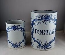 2 Delft Holland Pottery Williamsburg Restoration Mugs