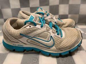 NIKE Dual Fusion Women's Shoe Size 7.5 White Blue 407847-107