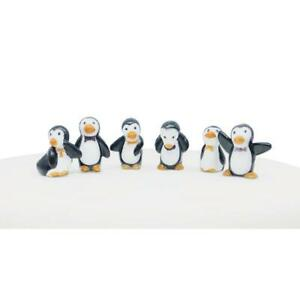 Fun Penguin Plastic Cake Toppers Decorations 6 Pack