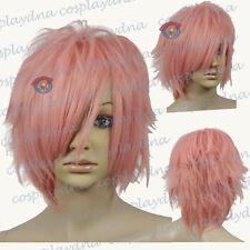 12 inch Hi_Temp Series Milkshake Pink Shaggy cut Cosplay DNA Wigs 72KPN