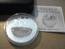 "2012 FIJI 1 Dollars Tresures of Mother Natur "" China - White Pearl"" SILBER Proof"