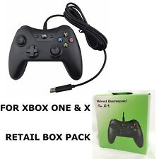 BLACK BRAND NEW USB WIRED CONTROLLER GAMEPAD FOR MICROSOFT XBOX ONE PC WINDOWS