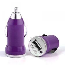 Chargeur Voiture Allume-Cigare USB 1A Violet pour Archos: 50e Helium, 50d Helium
