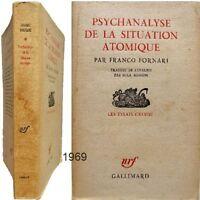 Psychanalyse de la situation atomique 1969 Franco Fornari survie humanité