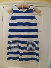 Mini Boden Girls Cotton Blue & White Striped Summer Dress Age 15-16 years BNWT