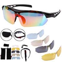 Polarized Sport Men Sunglasses Road Cycling Glasses Mountain Bike Eyewear+5 Lens