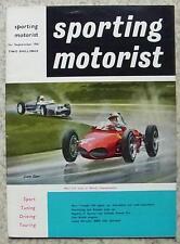 SPORTING MOTORIST Magazine Sept 1961 MERCEDES 300SE Triumph TR4 PEUGEOT 404
