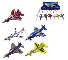6 ASST DIE CAST TOY FIGHTER JET KEY CHAIN diecast metal plane airplane toys NEW