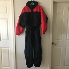 Columbia Black Red Snow Suit Ski Snowboard Pants One Piece Jacket Mens Large