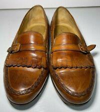 Johnston & Murphy Men's Kiltie Monk Buckle Strap Leather Loafers Shoes Sz. 9 W