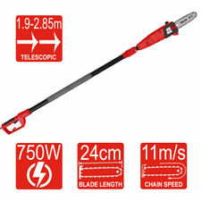 Telescopic 750W Electric Pole Saw & Pruner Extends 1.9 – 2.85m