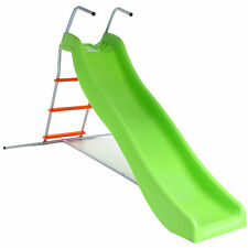Green Orange Crazy Wavy Slide Step Set Childrens Kids Garden Play Area