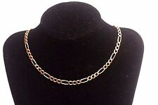 """Solid 14K Yellow Gold Figaro Chain, 14.5 Grams.  21"""" Long.  Unisex"""
