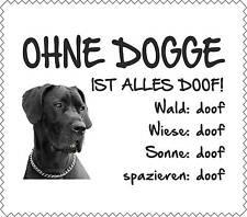 """Displayreinigunstuch Deutsche Dogge """"ALLES DOOF"""" Brillenputztuch Hund NEU GT0018"""