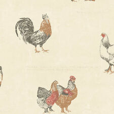 KC28507 Country Rooster Script Wallpaper DOUBLE roll FREE shipping