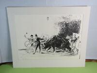 Hansjörg Wagner (1930-2013) -Lithographie eines Zirkus mit Bär Nr. 19/40 um 1970