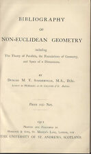 BIBLIOGRAPHY NON-EUCLIDEAN GEOMETRY SOMMERVILLE FIRST EDITION