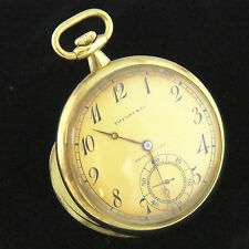NYJEWEL Touchon & Co Tiffany 18K Yellow Gold Antique Pocket Watch