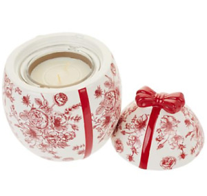 HomeWorx Ceramic Egg drop-in Vanilla Cherry Blossom Candle by Harry Slatkin -RED