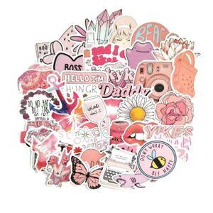 ✅50PCS Cartoon Pink INS Style Vsco Girl Stickers For Laptop Moto Skateboard