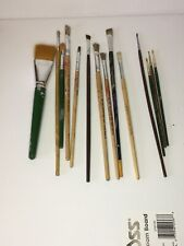 Lot of 14 Artist Paint Brushes Variety Brands & Sizes
