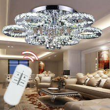 76/88W LED Lampe Kristall Kronleuchter Hängeleuchte Deckenlampe Pendelleuchte DE