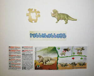 VV415 SINOCERATOPS (BASE BEIGE) + BPZ KINDER JOY ITALIA 2021 JURASSIC WORLD