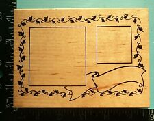 Large Frames Banner Ivy Rubber Stamp by Embossing Arts