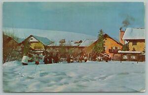 Sun Valley Idaho~Challenger Inn & Skiing~Standard Chrome Postcard