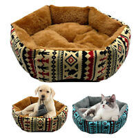 Warm Dog Cat Bed with Removable Cover Mat Fluffy Pet Sleeping Cushion Sofa S M L