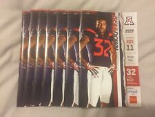2017 Arizona College Football Gameday Program Arizona vs OSU with game ticket