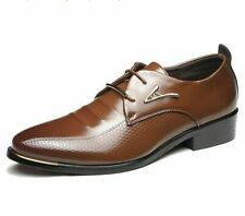 Dress Oxford Shoes Men's Leather Rubber Business Lace-Up Pointed Toe Shoe Wears
