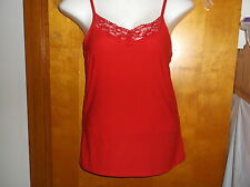 BRAND NEW NO BOUNDARIES LACE PEACH CAMI in RED ROVER COLOR