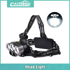 80000LM 5-LED Headlamp Headlight Rechargeable Light + USB Cable + 18650 Battery
