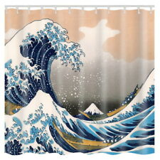 New  The Great Wave Off Kanagawa Pattern Waterproof Bathroom Shower Curtain 41
