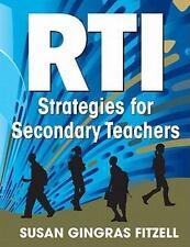 RTI Strategien für sekundäre Lehrer von Susan Gingras fitzell (2011, Taschenbuch)