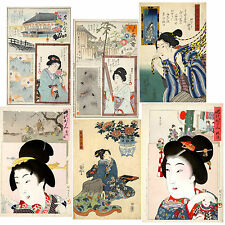 JAPANESE WOODBLOCK Print Painting Art women Kuniyoshi ukiyo-e (Hi Res jpg DVD #3